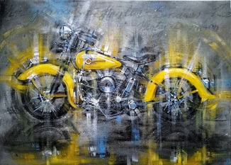 Картина «Harley-Davidson». Художник Ellen ORRO. холст/акрил. х, 2019 г.