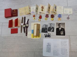 Комплект наград Героя СССР и Ордена Ленина окктябрь 1943 год.