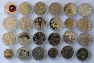 Юбилейные монеты Украины 5грн 1995-2019  24 штуки разные