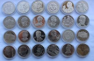 Юбилейные монеты Украины 1995-2019 2 гривны 24 штуки разные