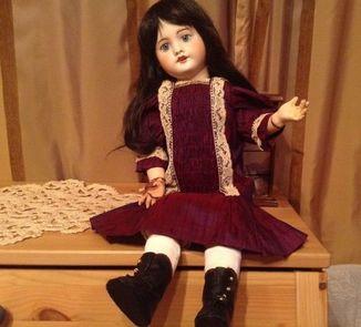 Антикварная кукла SFBJ 60. Рост 56 см. Опилки.