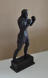 Скульптура Боксер 63 г.  подпись