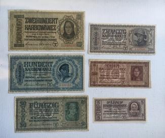 200,100,50,20,10,5 карбованцiв Rowno 1942