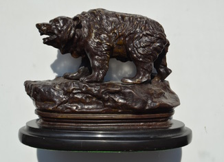 Бронзовая скульптура Медведь. Пётр Тургенев (1853-1912 )