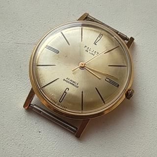 Часы Полет-плоский Poljot de luxe 23 jewels. made in USSR. позолота Au20