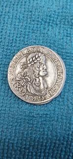 15 крейцеров 1664 (АС). Император Леопольд 1. Римская немецкая империя ( Австрия-Вена )