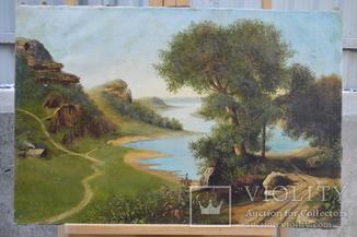 Картина, автор неизвестный, пейзаж, холст, масло, размер картины 52 х 78 см.