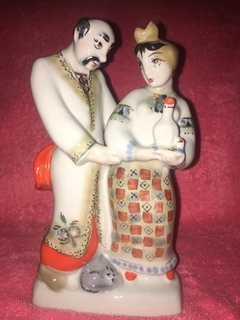 Фарфоровая статуэтка Кум и кума (Кума, Наливай) Полонне ЗХК