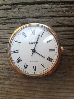 Часы Ракета Римские цифры позолота au 5, на ходу
