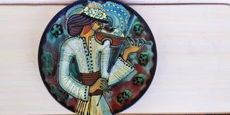 Тарелка декоративная, настенная Л.К.С.Ф.