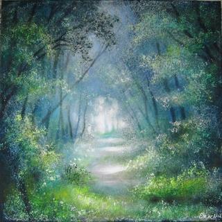 Весняний ліс, 50 х 50 см