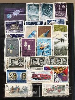 Альбом с марками СССР и других стран 349 шт.
