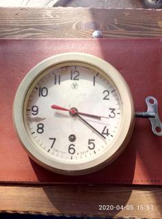 Часы морские на ходу