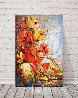 Картина акрилом «Ікебана» 45х30