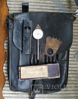 Планшет офицера рейха с угломером, курвиметром и маршлинейкой