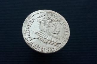 Три гроша 1592 Королевство Польша, мон.двор Рига