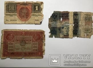 1, 2, 10 крон, Австро-Венгрия