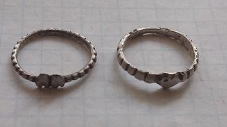 Серебряные колечки КР