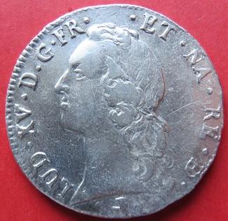 1 єкю 1762г. провинция Беарн,король Франции Людовик Х V