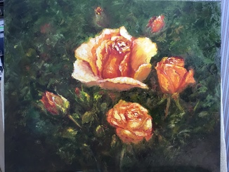 Розы. 40х50.