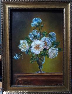 Цветочный натюрморт 22*32см