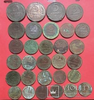 1,2,3,5 копеек 1924 год 30 шт