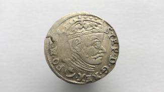 Трояк (3 гроша) 1581 года. Стефан Баторий. Вильно (R)