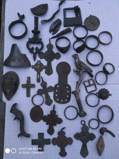 Металлопластика(кресты,кольца,фибулы,украшения и др.)