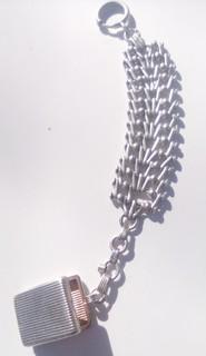 Шатлен царского периода серебро 84 пр. позолота 900пр.