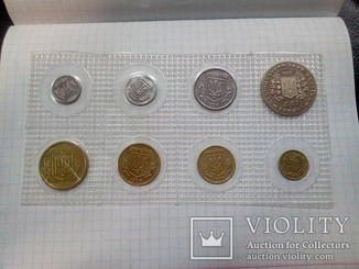 Набор монет НБУ 1996 год в банковской запайке.