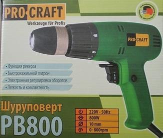 Сетевой шуруповерт Pro Craft PB800 photo 2