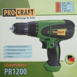 Сетевой шуруповерт Pro Craft Pb1200 photo 1