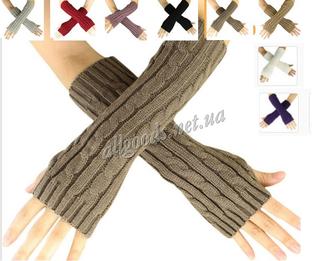 Митенки длинные перчатки без пальцев теплые photo 1