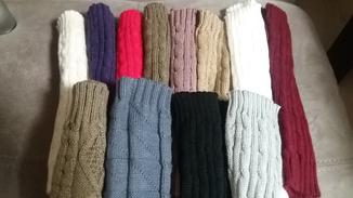 Митенки длинные перчатки без пальцев теплые photo 4