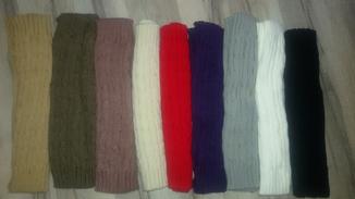Митенки длинные перчатки без пальцев теплые photo 5