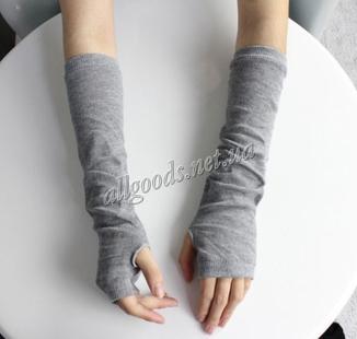 Митенки длинные перчатки без пальцев серые. уценка photo 1