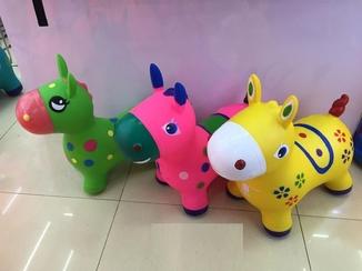Прыгун резиновый M01388 Пони, 3 цвета