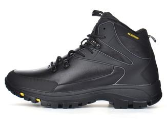 Ботинки мужские зимние кожаные waterproof черные Big man большие размеры