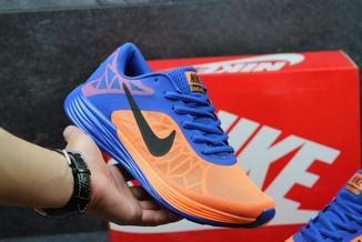 Кроссовки мужские Nike LunarLaunch сине-оранжевые