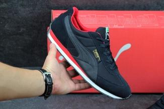 Кроссовки мужские Puma Speeder темно-сине-красные