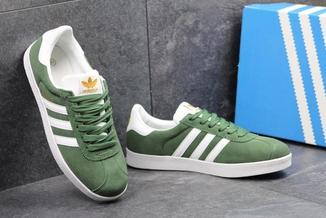 Кроссовки мужские Adidas Gazelle зеленые