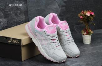 Кроссовки женские Asics Gel Lyte серо-розовые
