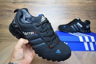 Кроссовки мужские зимние Adidas Terrex черно-синие