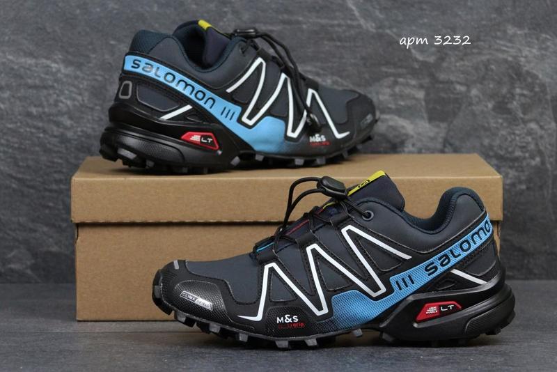 Кроссовки мужские Salomon Speedcross 3 темно-сине-голубые - «OXO ... a2bcdeb151fb2