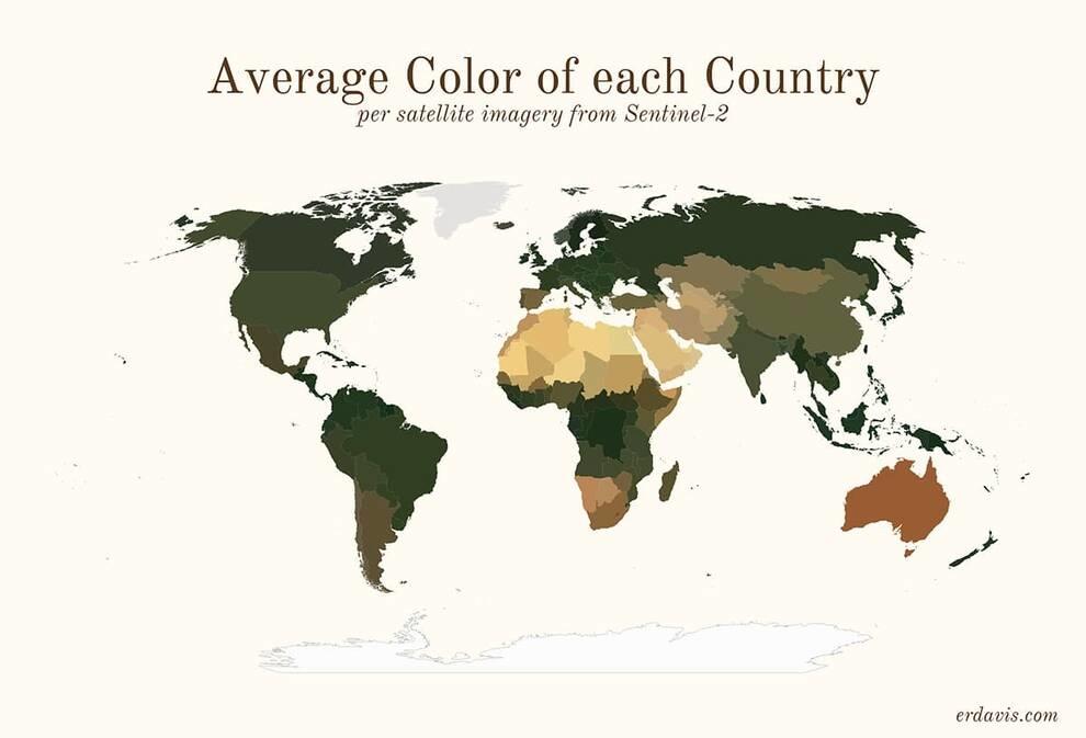 Средние цвета мира: программист рисует непривычные визуализации