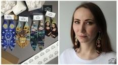 Украинка изображает известные произведения искусства на серьгах