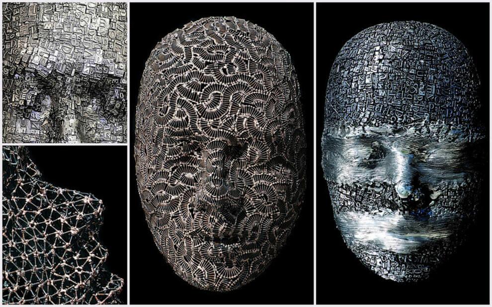 Маски из металлолома: австралиец создает изысканные бронзовые и алюминиевые скульптуры