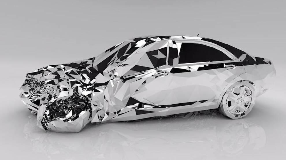 ОХО вспомнил скульптуру разрушенного Mercedes-Benz S550