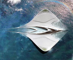 Французский архитектор показал проект плавающего города в форме электрического ската
